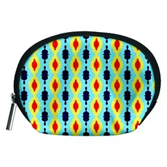 Yellow Chains Pattern Accessory Pouch (medium)