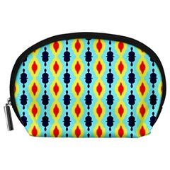 Yellow chains pattern Accessory Pouch (Large)