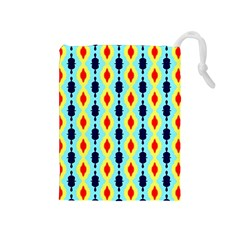 Yellow chains pattern Drawstring Pouch (Medium)