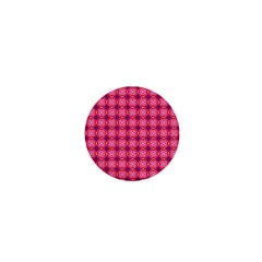 Abstract Pink Floral Tile Pattern 1  Mini Button Magnet