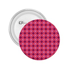 Abstract Pink Floral Tile Pattern 2 25  Button