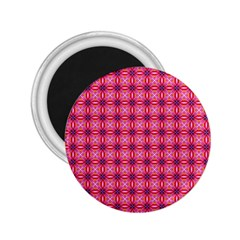 Abstract Pink Floral Tile Pattern 2 25  Button Magnet