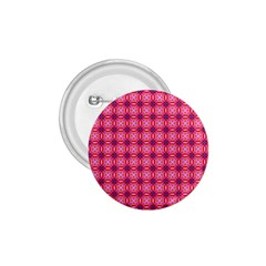 Abstract Pink Floral Tile Pattern 1 75  Button
