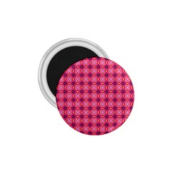 Abstract Pink Floral Tile Pattern 1 75  Button Magnet