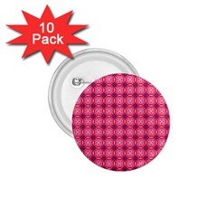 Abstract Pink Floral Tile Pattern 1 75  Button (10 Pack)