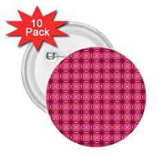 Abstract Pink Floral Tile Pattern 2 25  Button (10 Pack)
