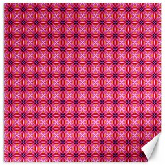 Abstract Pink Floral Tile Pattern Canvas 12  X 12  (unframed)