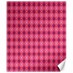 Abstract Pink Floral Tile Pattern Canvas 20  X 24  (unframed)