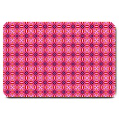 Abstract Pink Floral Tile Pattern Large Door Mat