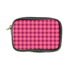 Abstract Pink Floral Tile Pattern Coin Purse