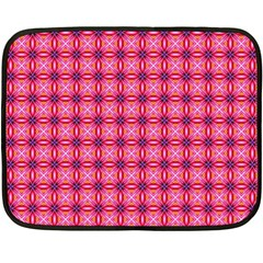 Abstract Pink Floral Tile Pattern Mini Fleece Blanket (two Sided)