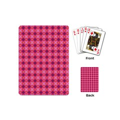 Abstract Pink Floral Tile Pattern Playing Cards (mini)