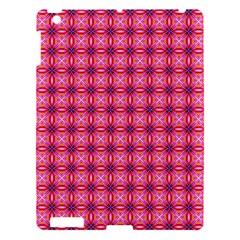 Abstract Pink Floral Tile Pattern Apple Ipad 3/4 Hardshell Case