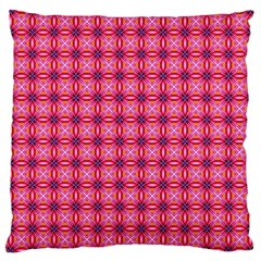 Abstract Pink Floral Tile Pattern Large Cushion Case (single Sided)