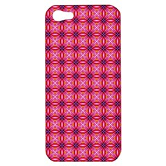 Abstract Pink Floral Tile Pattern Apple Iphone 5 Hardshell Case