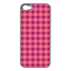 Abstract Pink Floral Tile Pattern Apple Iphone 5 Case (silver)