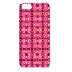 Abstract Pink Floral Tile Pattern Apple Iphone 5 Seamless Case (white)