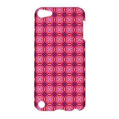 Abstract Pink Floral Tile Pattern Apple Ipod Touch 5 Hardshell Case