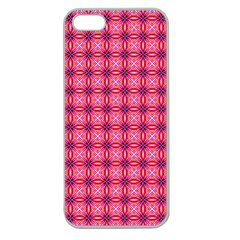 Abstract Pink Floral Tile Pattern Apple Seamless Iphone 5 Case (clear)