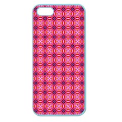 Abstract Pink Floral Tile Pattern Apple Seamless Iphone 5 Case (color)