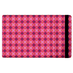 Abstract Pink Floral Tile Pattern Apple Ipad 2 Flip Case