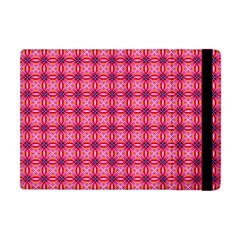 Abstract Pink Floral Tile Pattern Apple Ipad Mini Flip Case