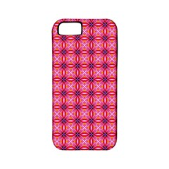 Abstract Pink Floral Tile Pattern Apple Iphone 5 Classic Hardshell Case (pc+silicone)