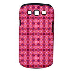 Abstract Pink Floral Tile Pattern Samsung Galaxy S III Classic Hardshell Case (PC+Silicone)
