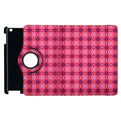 Abstract Pink Floral Tile Pattern Apple Ipad 3/4 Flip 360 Case