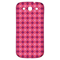 Abstract Pink Floral Tile Pattern Samsung Galaxy S3 S Iii Classic Hardshell Back Case