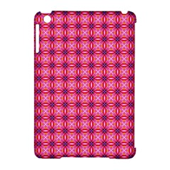 Abstract Pink Floral Tile Pattern Apple Ipad Mini Hardshell Case (compatible With Smart Cover)