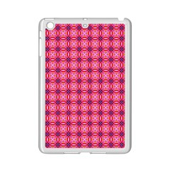 Abstract Pink Floral Tile Pattern Apple Ipad Mini 2 Case (white)