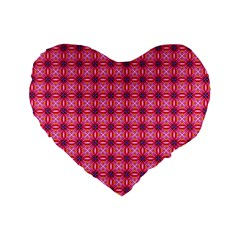 Abstract Pink Floral Tile Pattern 16  Premium Heart Shape Cushion
