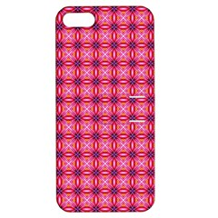 Abstract Pink Floral Tile Pattern Apple Iphone 5 Hardshell Case With Stand