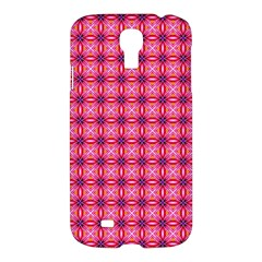 Abstract Pink Floral Tile Pattern Samsung Galaxy S4 I9500/i9505 Hardshell Case