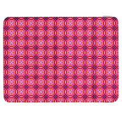 Abstract Pink Floral Tile Pattern Samsung Galaxy Tab 7  P1000 Flip Case
