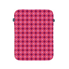 Abstract Pink Floral Tile Pattern Apple Ipad Protective Sleeve