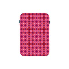 Abstract Pink Floral Tile Pattern Apple Ipad Mini Protective Sleeve