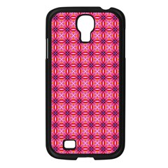 Abstract Pink Floral Tile Pattern Samsung Galaxy S4 I9500/ I9505 Case (black)