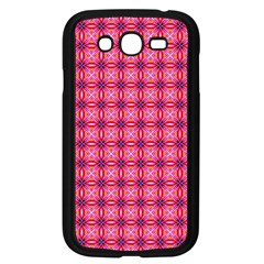 Abstract Pink Floral Tile Pattern Samsung Galaxy Grand Duos I9082 Case (black)