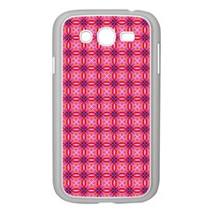 Abstract Pink Floral Tile Pattern Samsung Galaxy Grand Duos I9082 Case (white)