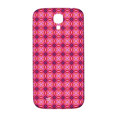 Abstract Pink Floral Tile Pattern Samsung Galaxy S4 I9500/i9505  Hardshell Back Case