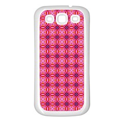 Abstract Pink Floral Tile Pattern Samsung Galaxy S3 Back Case (white)