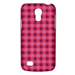 Abstract Pink Floral Tile Pattern Samsung Galaxy S4 Mini (gt I9190) Hardshell Case
