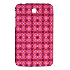 Abstract Pink Floral Tile Pattern Samsung Galaxy Tab 3 (7 ) P3200 Hardshell Case