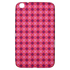 Abstract Pink Floral Tile Pattern Samsung Galaxy Tab 3 (8 ) T3100 Hardshell Case