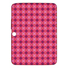 Abstract Pink Floral Tile Pattern Samsung Galaxy Tab 3 (10 1 ) P5200 Hardshell Case
