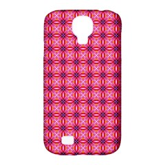 Abstract Pink Floral Tile Pattern Samsung Galaxy S4 Classic Hardshell Case (pc+silicone)