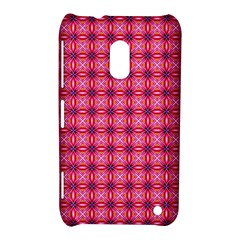 Abstract Pink Floral Tile Pattern Nokia Lumia 620 Hardshell Case