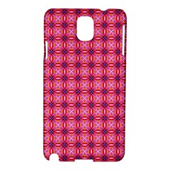 Abstract Pink Floral Tile Pattern Samsung Galaxy Note 3 N9005 Hardshell Case